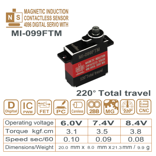 MAGNETIC INDUCTIO DIGITAL SERVO