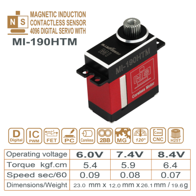 MAGNETIC INDUCTION DIGITAL SERVO