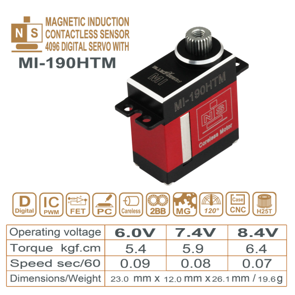 MAGNETIC INDUCTIO DIGITAL  CARELESS MOTOR  STEEL GEAR SERVO