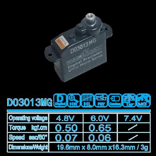 0.50kg.cm 0.07sec/60° 4.8V 3g