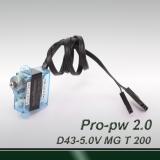 Mini 200° travel-professional digital (pulse width 1.0~2.0ms)  MG servo