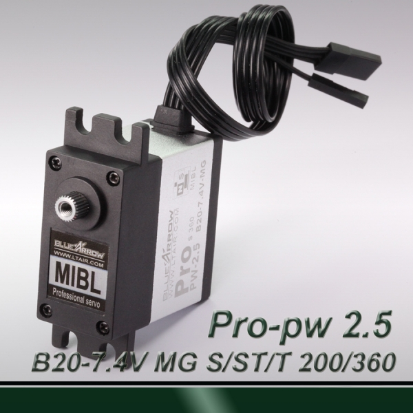 High-Torque 200° travel Professional digital MIBL (pulse width 0.5~2.5ms) dual-axis MG servo