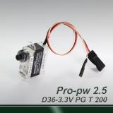 Mini 200° travel-professional digital (pulse width 0.5~2.5ms) servo