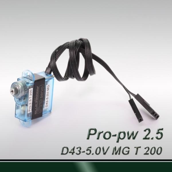 Mini 200° travel-professional digital (pulse width 0.5~2.5ms) MG servo