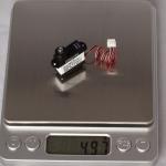 0.70kg.cm 0.08sec/60° @4.8V  4.9g