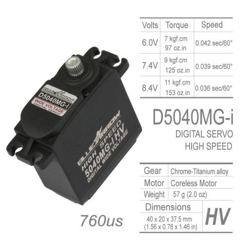 DIGITAL  HIGH SPEED SERVO(760μs)
